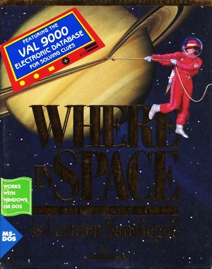 Where in Space is Carmen Sandiego? (Deluxe) DOS front cover