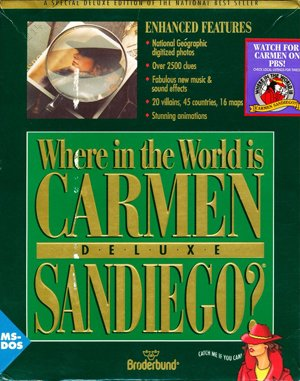 Where in the World is Carmen Sandiego? (Deluxe) DOS front cover