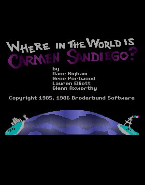 Where in the World is Carmen Sandiego? (Enhanced) DOS front cover