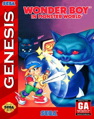 Wonder Boy in Monster World Sega Genesis front cover