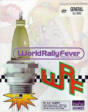 World Rally Fever: Born on the Road DOS front cover