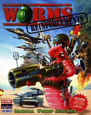 Worms: Reinforcements DOS front cover
