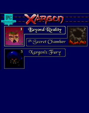 Xargon Trilogy DOS front cover