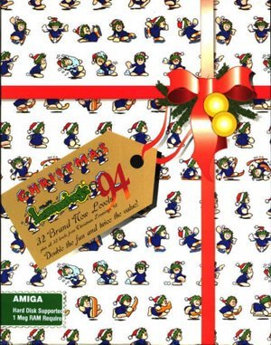 Xmas Lemmings DOS front cover