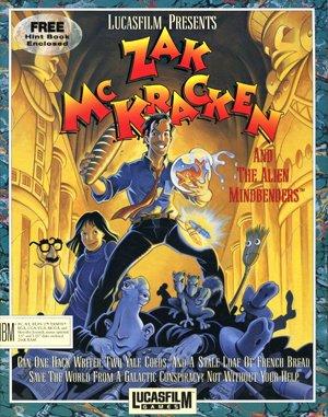 Zak McKracken and the Alien Mindbenders DOS front cover