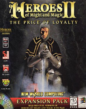Heroes of Might and Magic II: The Price of Loyalty DOS front cover
