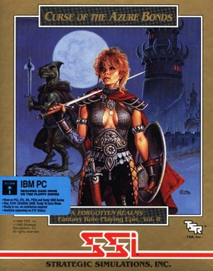 Curse of The Azure Bonds DOS front cover