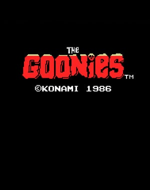 The Goonies DOS front cover