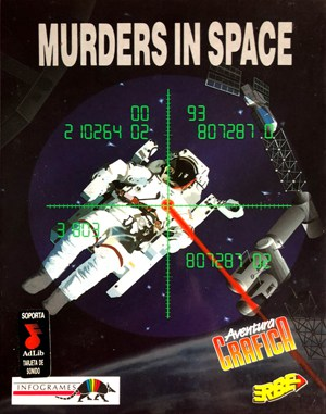 Murderers in space DOS front cover