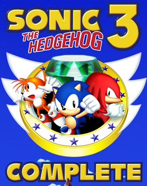 Sonic the Hedgehog 3 Complete Sega Genesis front cover