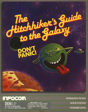 The Hitchhiker's Guide to the Galaxy DOS front cover