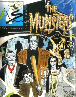 The Munsters DOS front cover