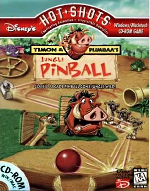 Timon & Pumbaa's Jungle Pinball DOS front cover