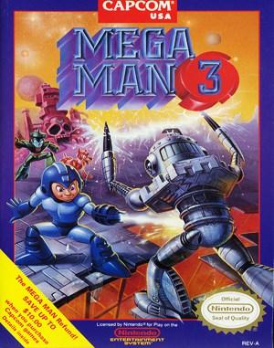Mega Man 3 NES  front cover