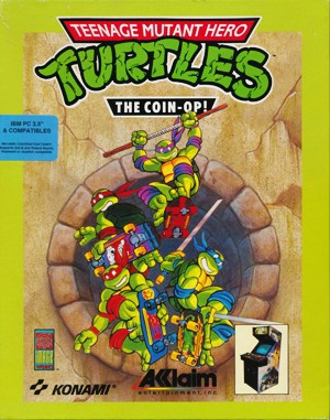 Teenage Mutant Ninja Turtles II: The Arcade Game DOS front cover