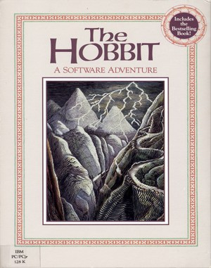 The Hobbit DOS front cover
