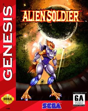 Alien Soldier Sega Genesis front cover