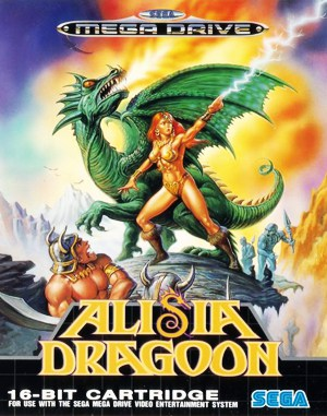 Alisia Dragoon Sega Genesis front cover