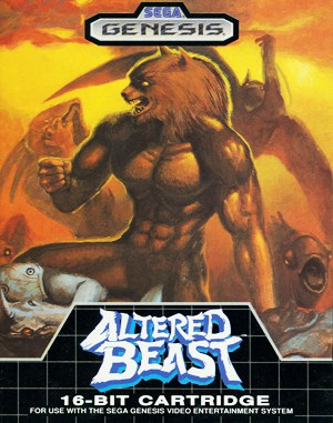 Altered Beast Sega Genesis front cover