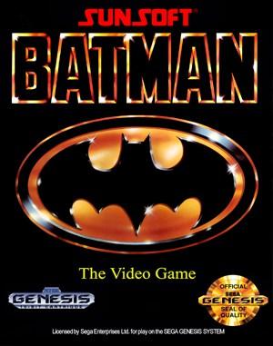 Batman: The Video Game Sega Genesis front cover