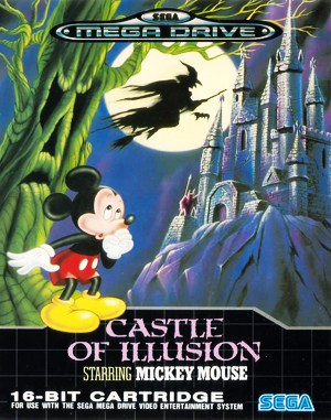 Castle of Illusion Starring Mickey Mouse Sega Genesis front cover