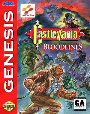 Castlevania: Bloodlines Sega Genesis front cover