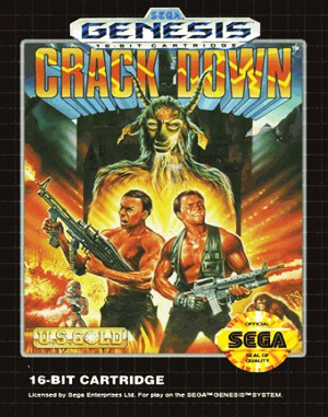 Crack Down Sega Genesis front cover