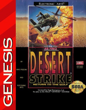 Desert Strike: Return to the Gulf Sega Genesis front cover