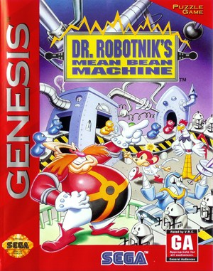 Dr. Robotnik's Mean Bean Machine Sega Genesis front cover