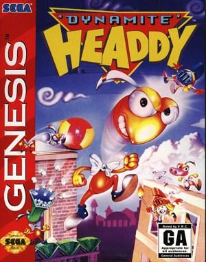 Dynamite Headdy Sega Genesis front cover