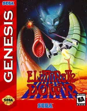 Eliminate Down Sega Genesis front cover