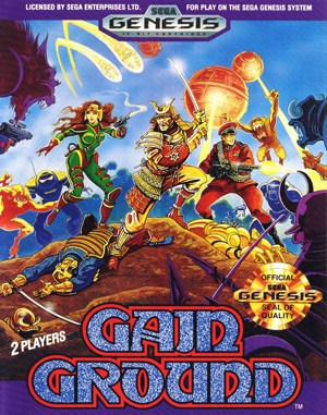 Gain Ground Sega Genesis front cover