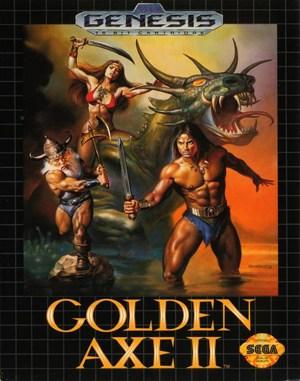 Golden Axe II Sega Genesis front cover