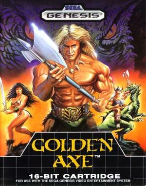 Golden Axe Sega Genesis front cover