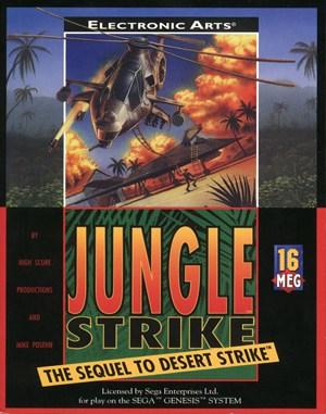 Jungle Strike Sega Genesis front cover