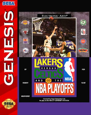 Lakers versus Celtics and the NBA Playoffs Sega Genesis front cover