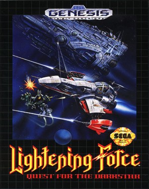 Lightening Force: Quest for the Darkstar Sega Genesis front cover