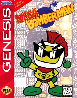 Mega Bomberman Sega Genesis front cover