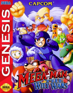 Mega Man: The Wily Wars Sega Genesis front cover