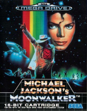 Michael Jackson's Moonwalker Sega Genesis front cover