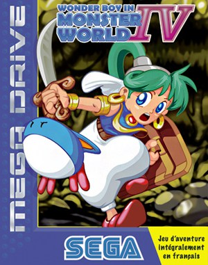 Monster World IV Sega Genesis front cover