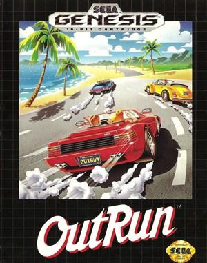 OutRun Sega Genesis front cover
