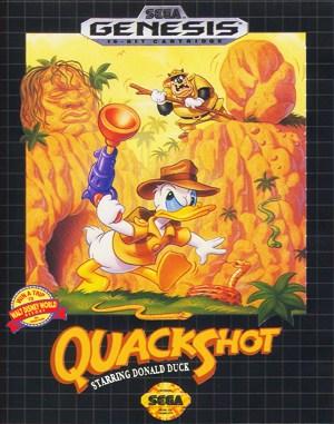 QuackShot starring Donald Duck Sega Genesis front cover