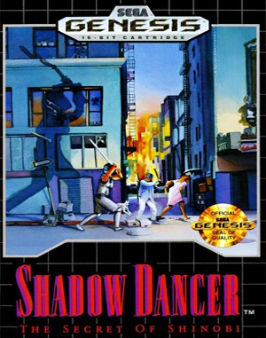 Shadow Dancer: The Secret of Shinobi Sega Genesis front cover