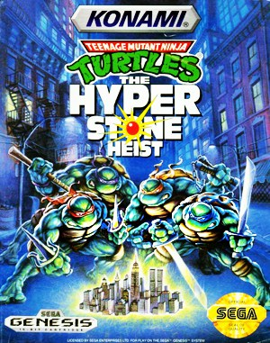 Teenage Mutant Ninja Turtles: The Hyperstone Heist Sega Genesis front cover