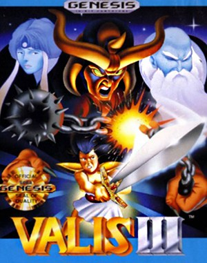 Valis III Sega Genesis front cover