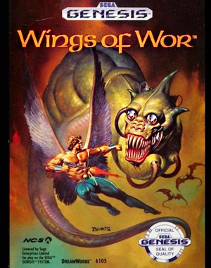 Wings of Wor Sega Genesis front cover