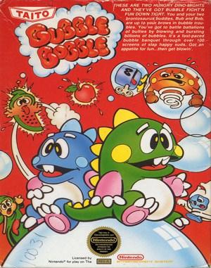 Bubble Bobble NES  front cover