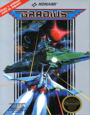 Gradius NES  front cover