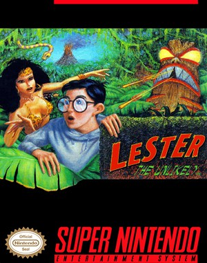 Lester the Unlikely SNES front cover